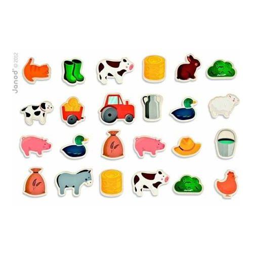 24 Pcs Farm Theme Fridge Magnets 18M+