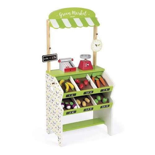 Green Market Grocery Stand With 32 Accessories