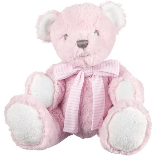 Hug-A-Boo Pink Bear With Rattle