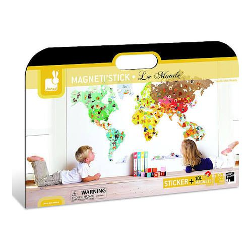 Wall Stickers Mondo.Magneti Stick Le Monde Magnetic World Wall Sticker Toys Toy Street Uk