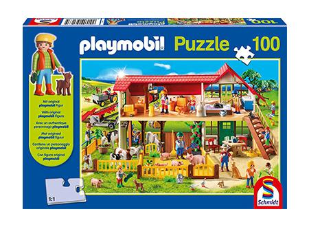 Playmobil: Farm Jigsaw With Figure (100Pc)