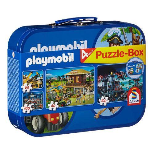 Playmobil: Four Jigsaws In Blue Keepsake Tin (2X60Pc/2X100Pc)