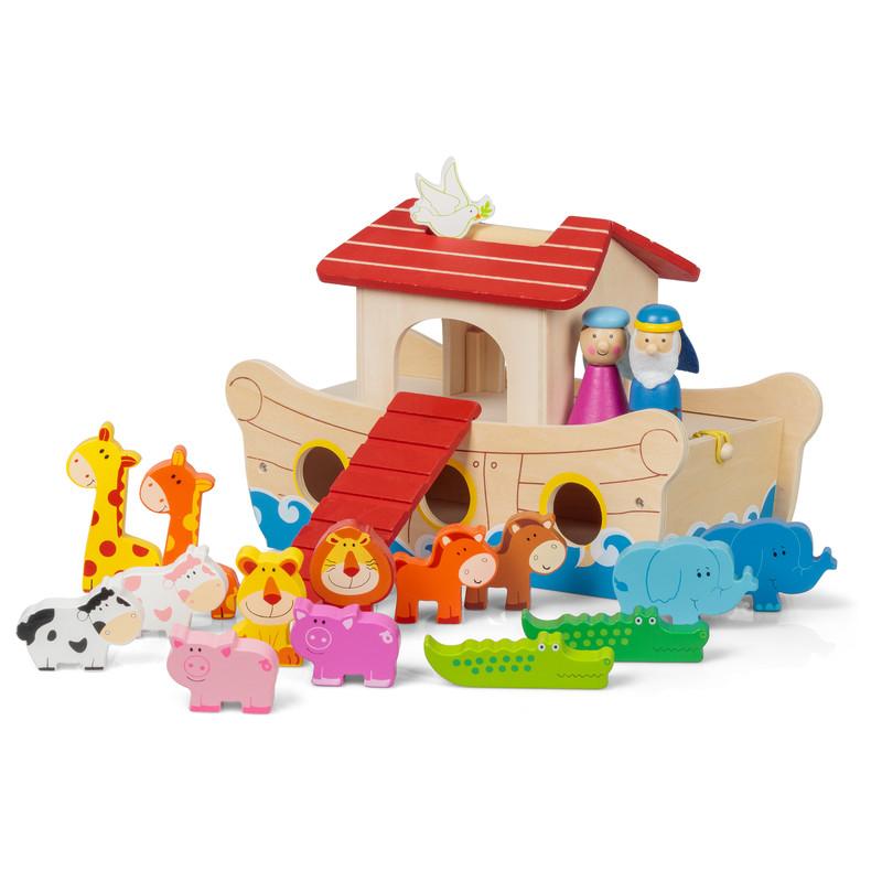 Wooden Noah'S Ark Playset