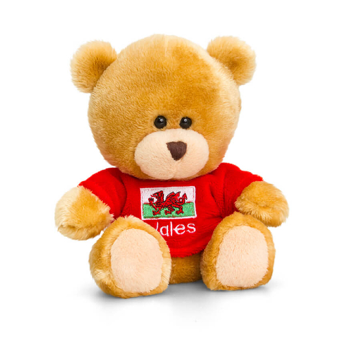 14cm Pipp the Bear with Wales T-Shirt