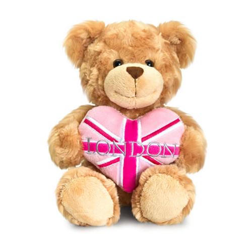 20cm Pink Heart Bear