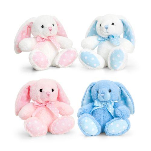 15cm Baby Spotty Rabbit 4 Asstd - (One Supplied)