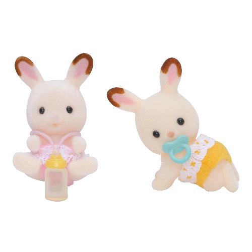 Chocolate Rabbit Twins Set
