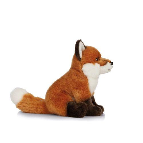 7.5'' Sitting Red Fox w.bean
