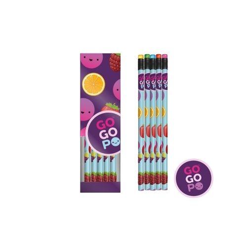 GoGoPo Scented Pencils 6pk