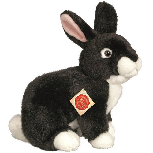 Rabbit Sitting Black 25cm