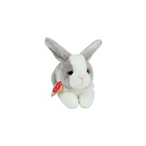 Rabbit Sitting Grey-White 18cm