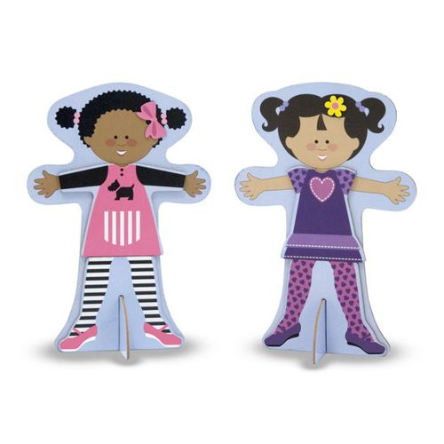 Magnetic Wooden Dress-Up Dolls