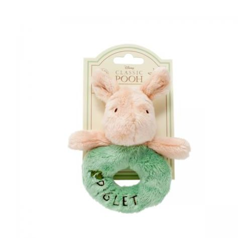 Winnie The Pooh Baby Piglet Ring Rattle