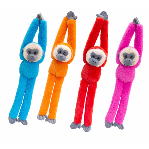 50cm Colourful Hanging Monkey 4 Asstd - (One Supplied)