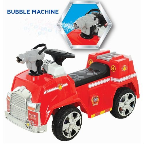 Marshall's 6V Bubble Blowin' Fire Truck