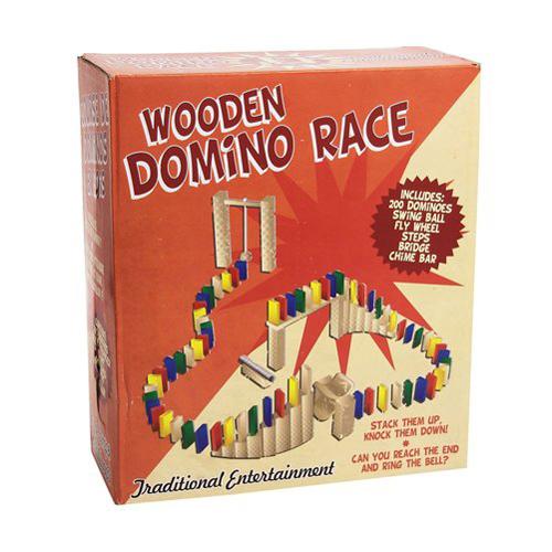Wooden Domino Race