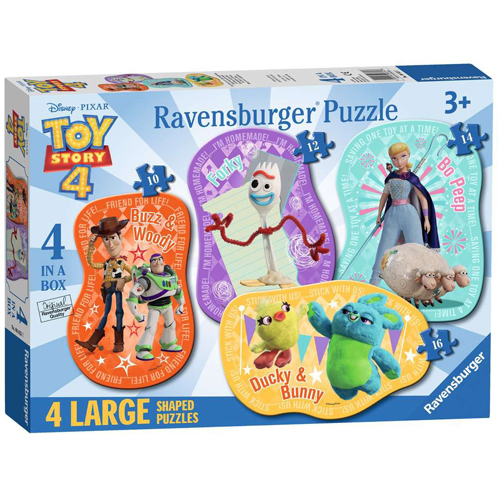 Toy Story 4 - Four Large Shaped Puzzles