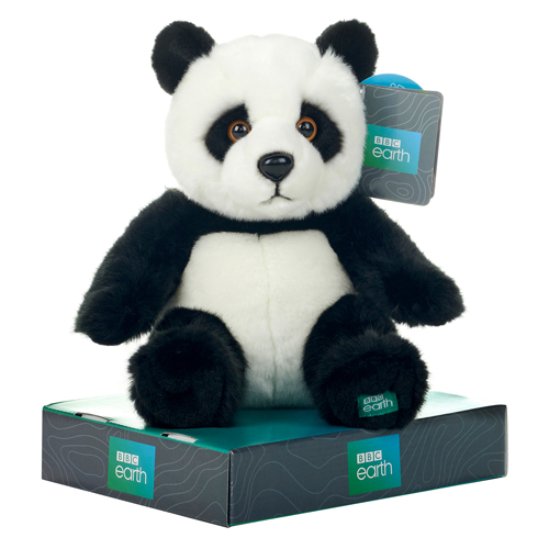 """NEW 10/"""" BBC EARTH BOXED PANDA SOFT TOY PLANET EARTH"""