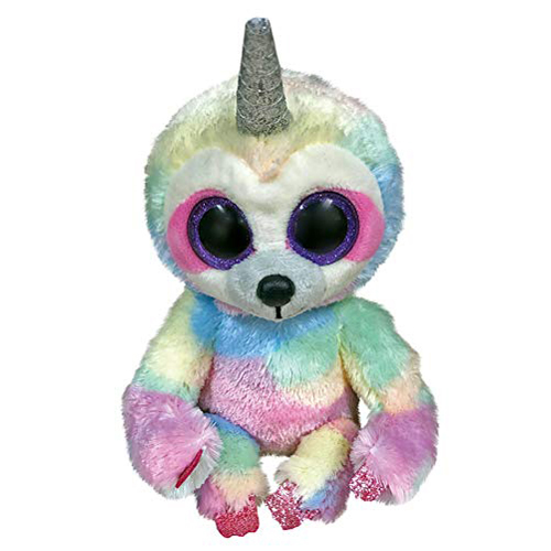 Cooper Sloth with Horn - Beanie Boos