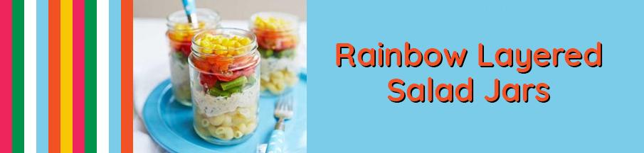 Rainbow Layered Salad Jars