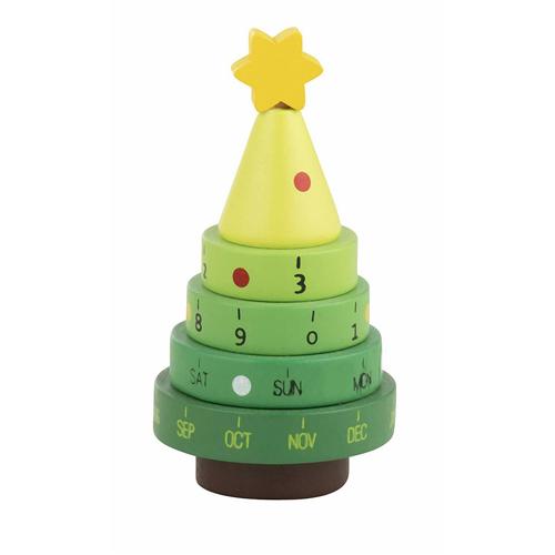 Wooden Santa Christmas Tree Calendar - One Supplied