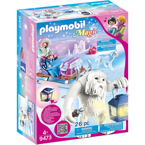 Playmobil 9473 Magic Yeti With Sleigh With Luminous Lantern