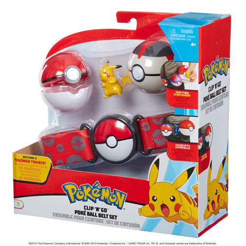 Pokemon Clip N Go Ball Belt Set