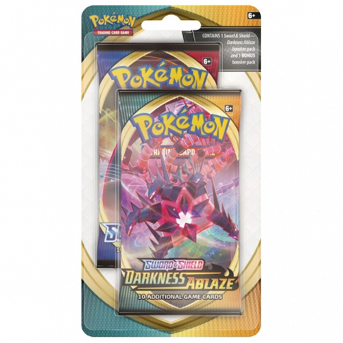 Pokemon TCG: Sword & Shield 3 Darkness Ablaze 2-Pack Blister