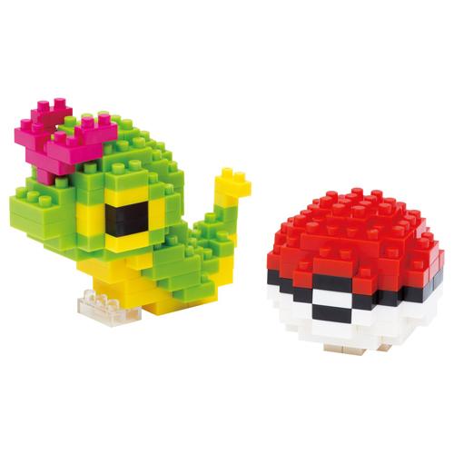 Nanoblock Caterpie & Poké Ball