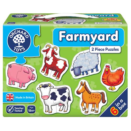 Farmyard Two Piece Puzzles