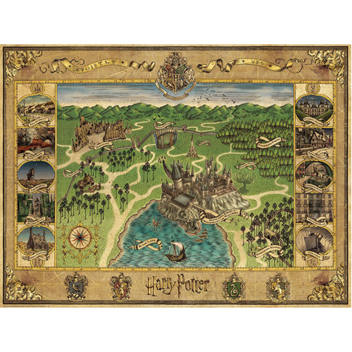 Harry Potter Hogwarts Map Jigsaw Puzzle (1500 pieces)