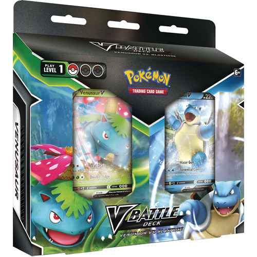 Pokemon TCG: Blastoise V and Venusaur V Battle Deck Bundle