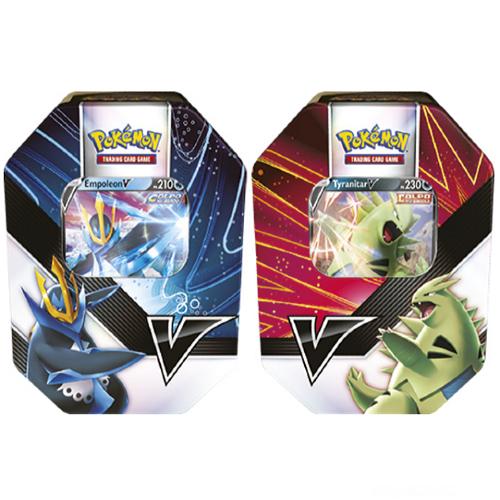 Pokemon TCG: V Strikers Tin - Tyranitar V / Empoleon V 2 Set