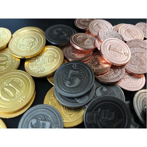 50 Industrial Metal Coins