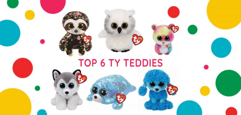 Top 6 ty teddies banner