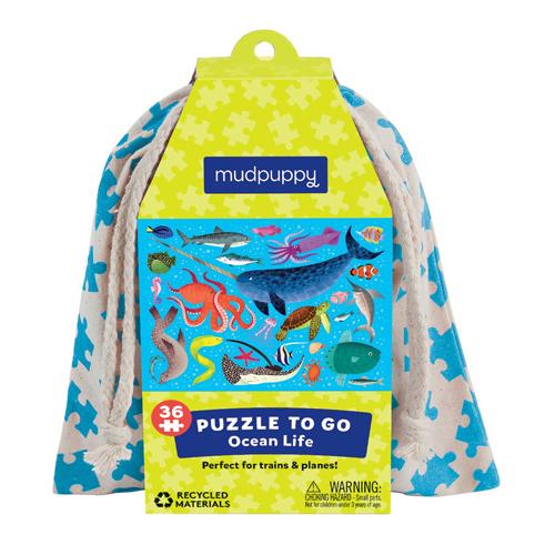 Mudpuppy Puzzle To Go: Ocean Life | Toys | Toy Street UK