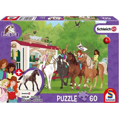 Schleich: Horse Club Meet Puzzle (60 pieces) inc. 1 figure