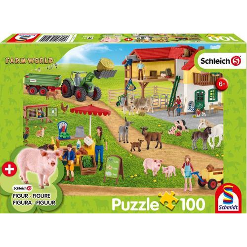 Schleich: The Farmers' Market Puzzle (100 pieces) inc. 1 figure