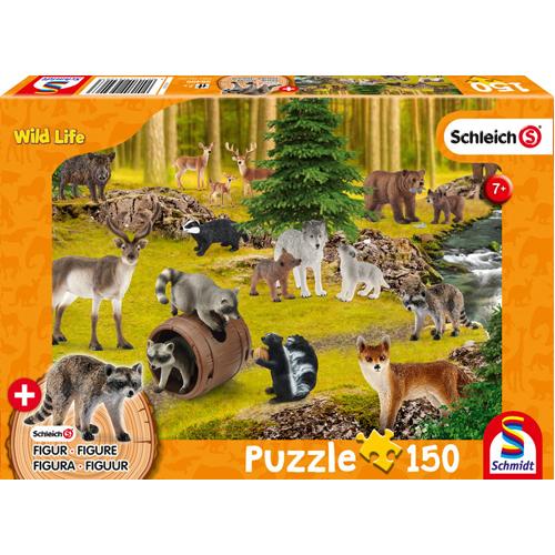 Schleich: Woodland Wildlife Puzzle (150 pieces) inc. 1 figure