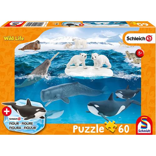 Schleich: Arctic Adventure Puzzle (60 Pieces) including 1 figure